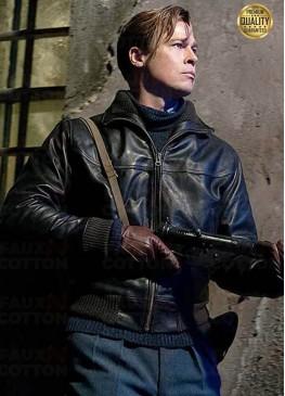 Brad Pitt Allied Black Leather Jacket
