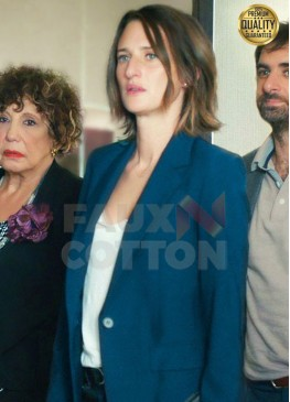 Call My Agent Camille Cottin (Andrea Martel) Blue Wool Blazer