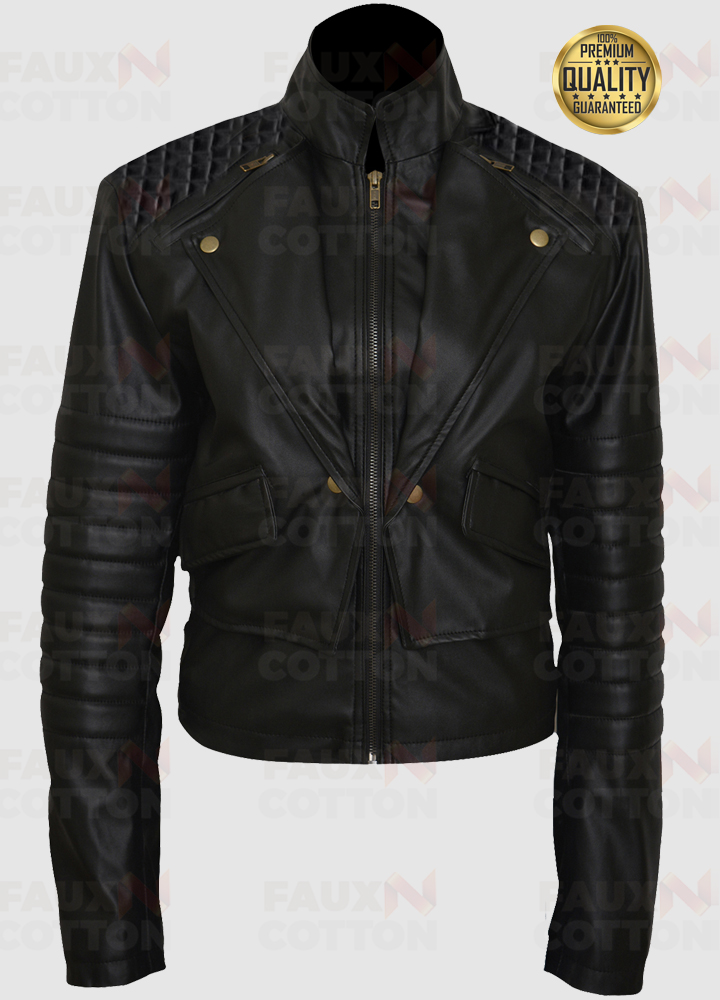 Clary Fray Mortal Instruments City of Bones Lily Collins Leather Jacket