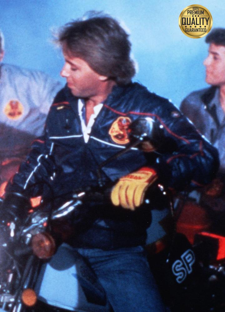 Cobra Kai 1984 Blue Leather Jacket