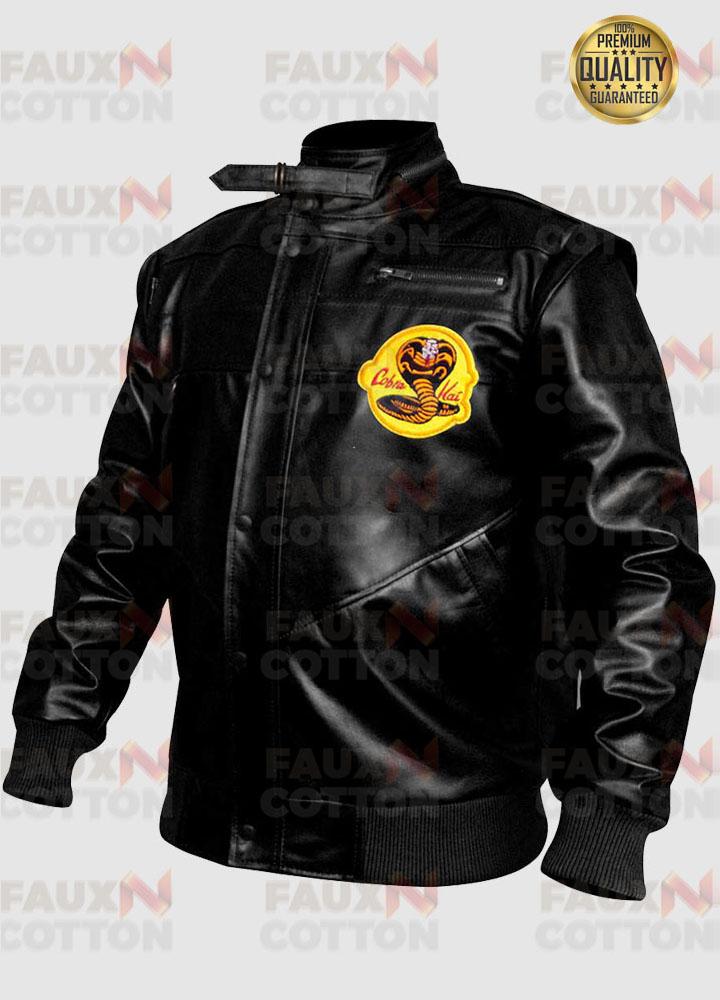 Cobra Kai Black Leather Jacket