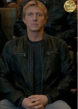 Cobra Kai Season 3 Johnny Lawrence ( William Zabka ) Leather Jacket