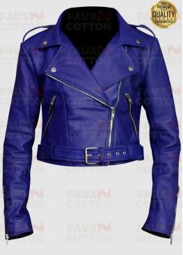 Women's Blue Short Body Jacket