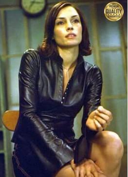 Famke Janssen Spy 2002 Rachel Black Leather Jacket