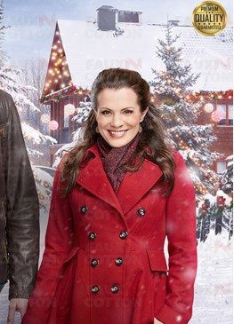 Holiday for Heroes Audrey Brown Red Wool Coat