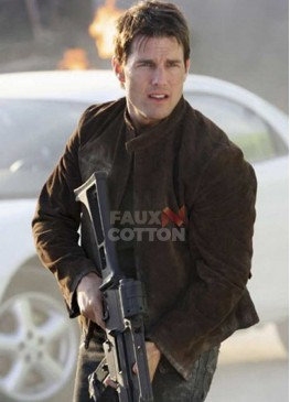 Mission Impossible 3 Tom Cruise  Brown Suede Jacket