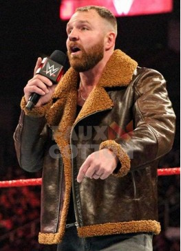 WWE Dean Ambrose Dark Brown Shearling Jacket