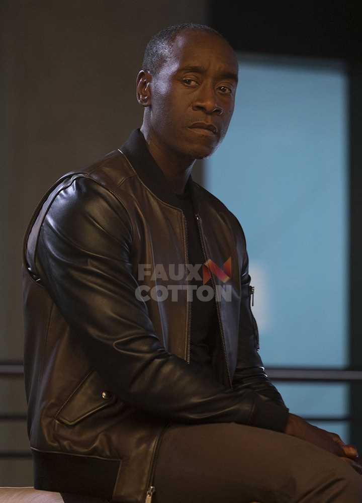 Captain America Civil War Don Cheadle Leather Jacket
