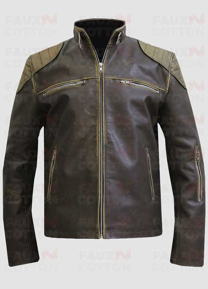 Antique Cafe Racer Leather Jacket