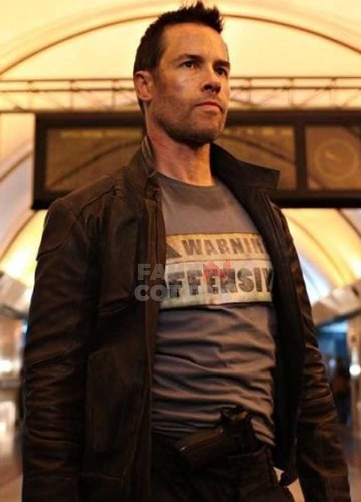 Guy Pearce Lockout Snow Brown Jacket