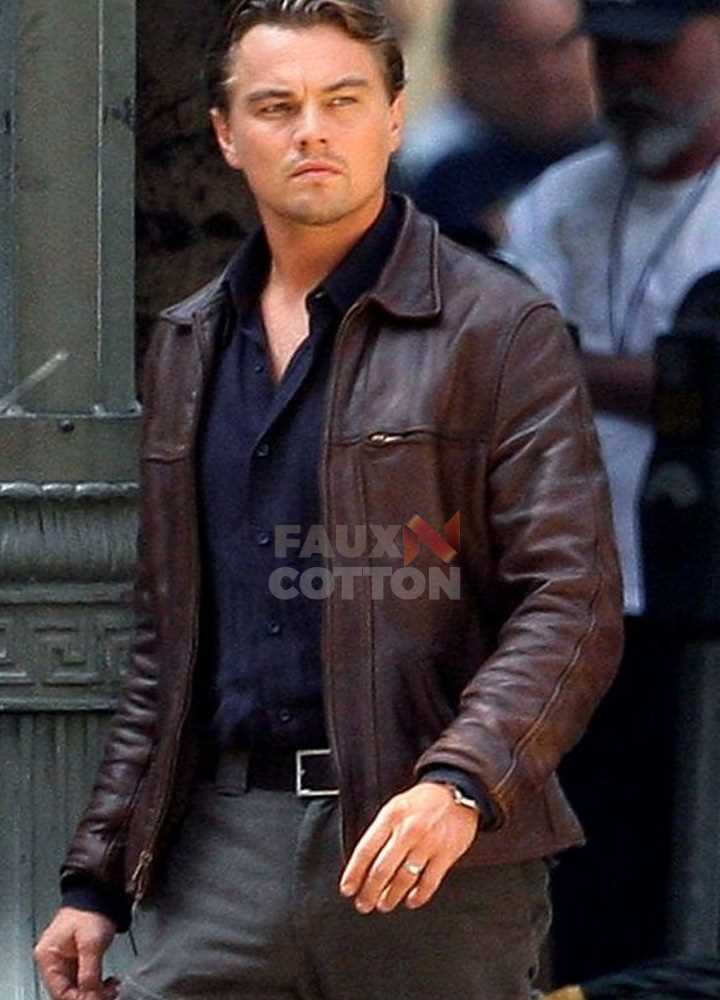 Leonardo DiCaprio Inception Cobb Brown Jacket