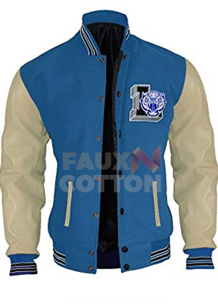 13 reasons why Justin (Brandon Flynn) Baseball Jacket