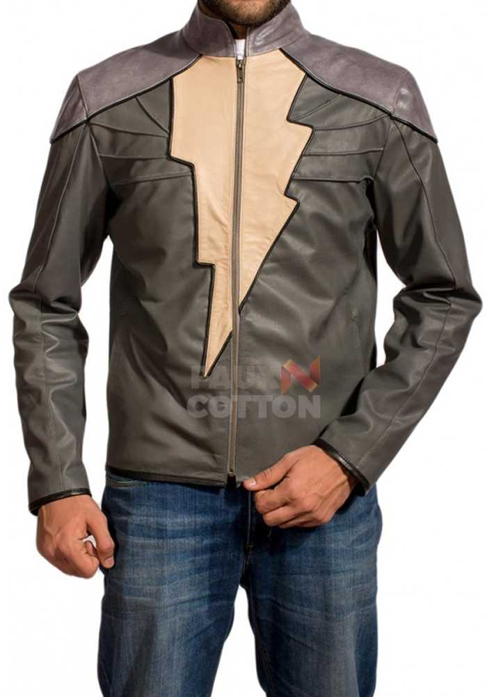 Captain Marvel Shazam Adam Grey Jacket