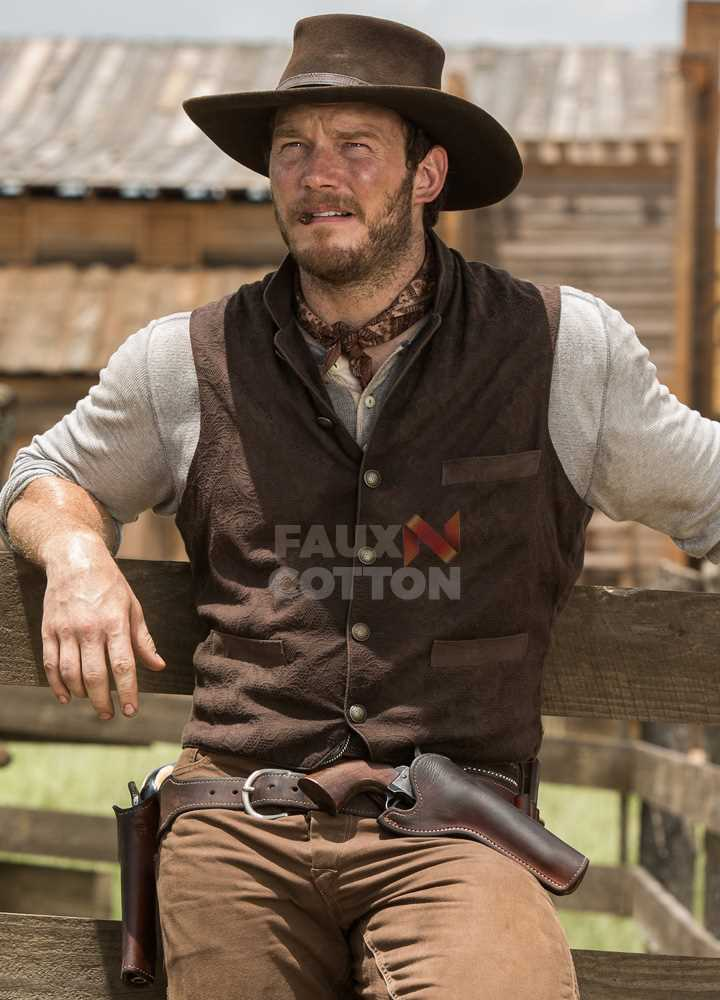 Magnificent Seven Josh Faraday Brown Vest