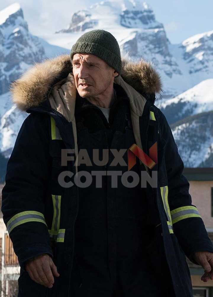 Cold Pursuit Liam Neeson Fur Jacket