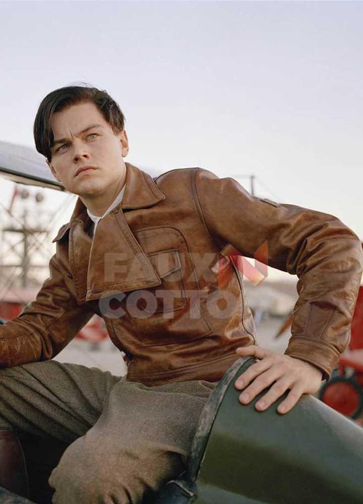 The Aviator Leonardo Dicaprio Brown Jacket