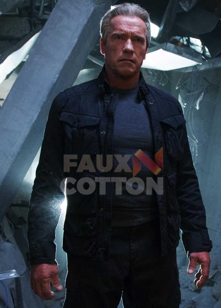 Terminator Dark Fate Arnold Schwarzenegger Cotton Jacket