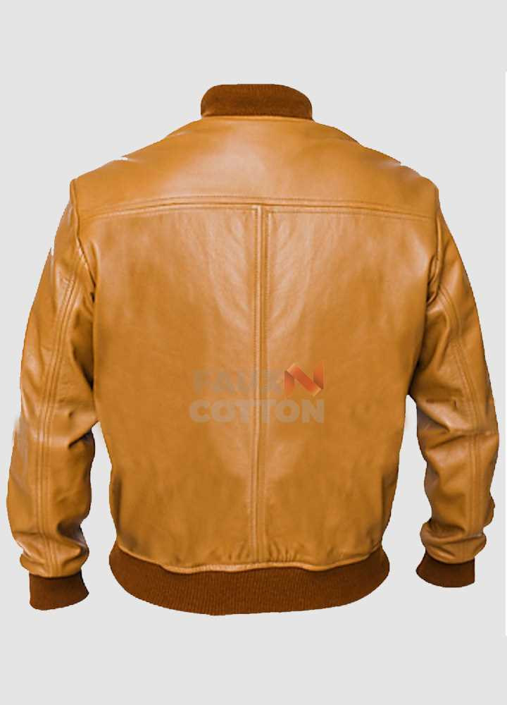 Vintage Camel  Brown Bomber Jacket