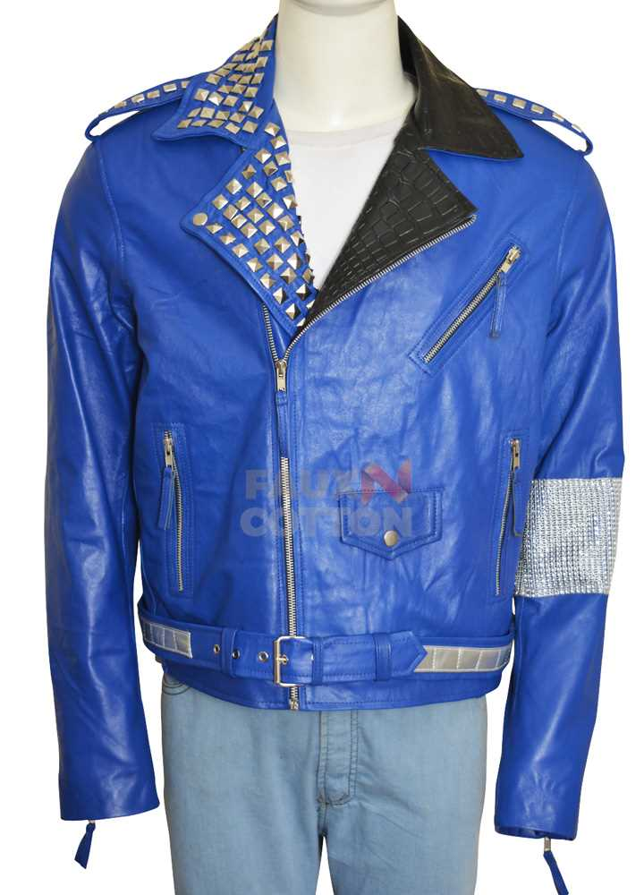 WWE Brian Kendrick Studded Blue Jacket