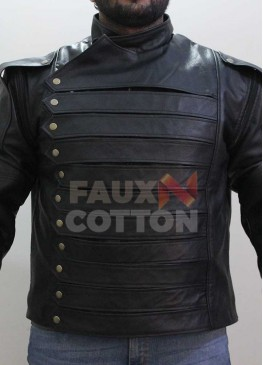 Winter Soldier Bucky Barnes Removeable Sleeves Jacket