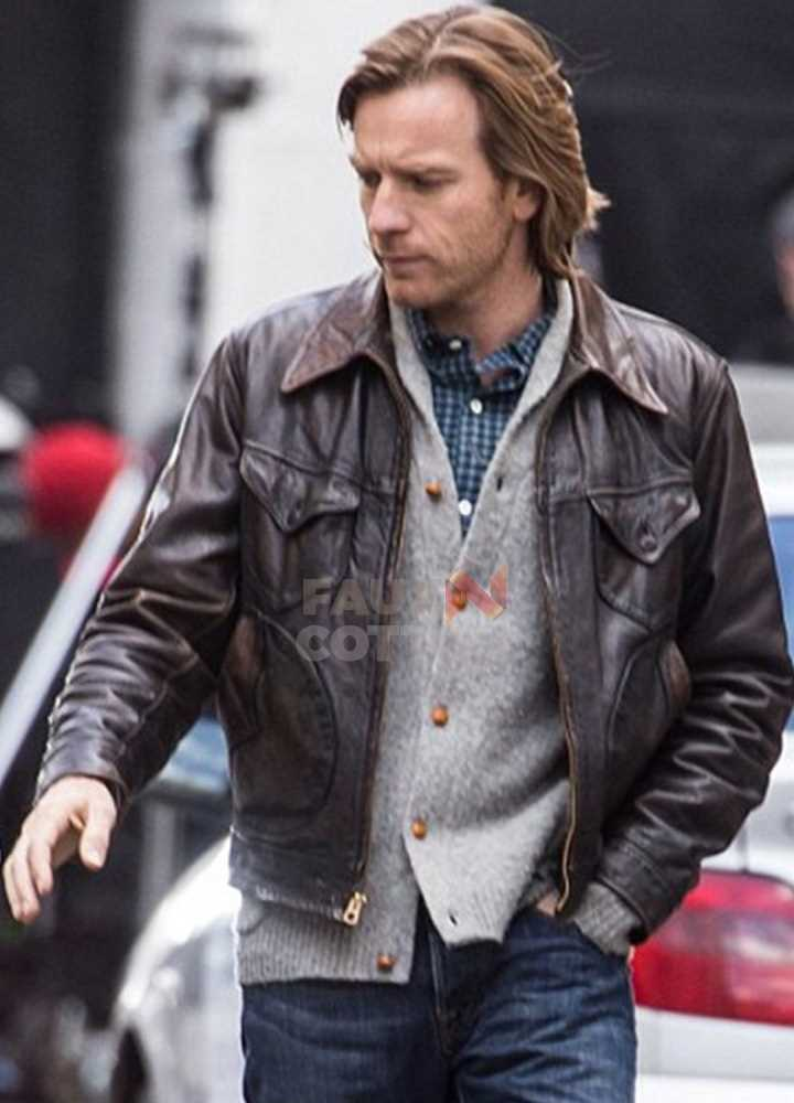 Our Kind of Traitor Ewan McGregor Brown Leather Jacket