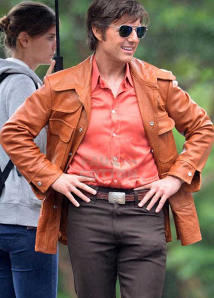 American Made Tom Cruise (Barry Seal) Brown Leather Jacket