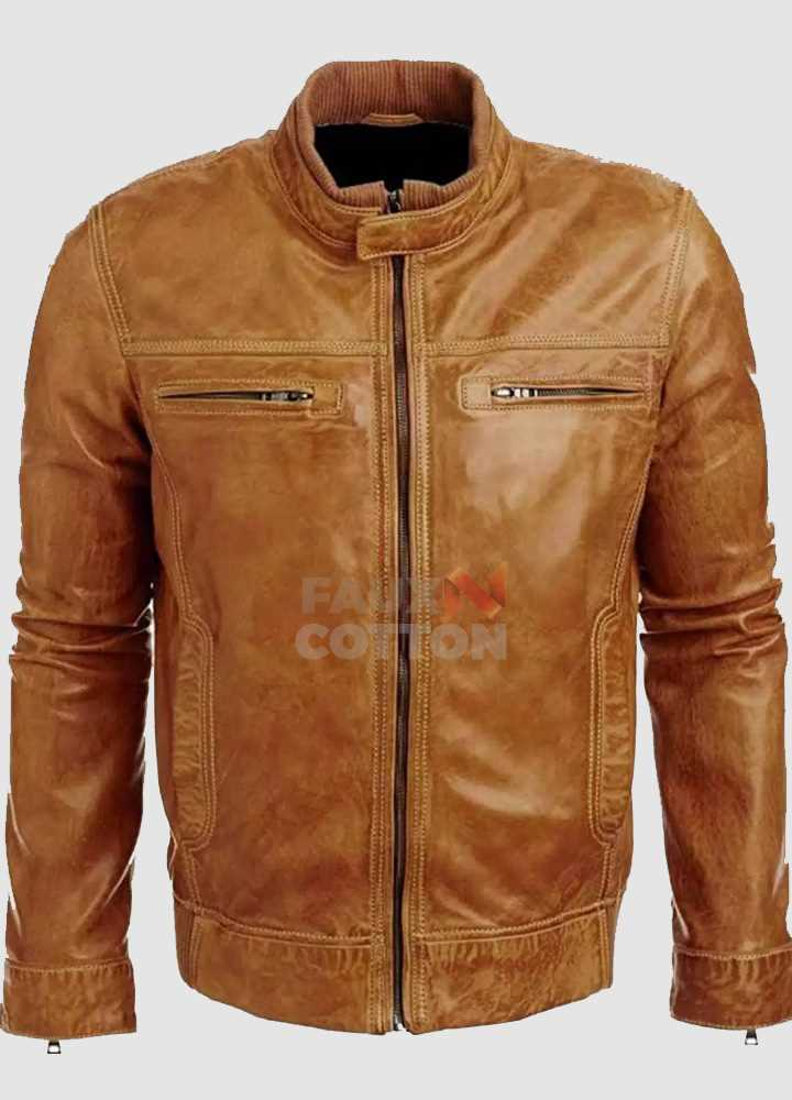 Arrow Tommy Merlyn (Colin Donnell) Distressed Brown Leather Jacket