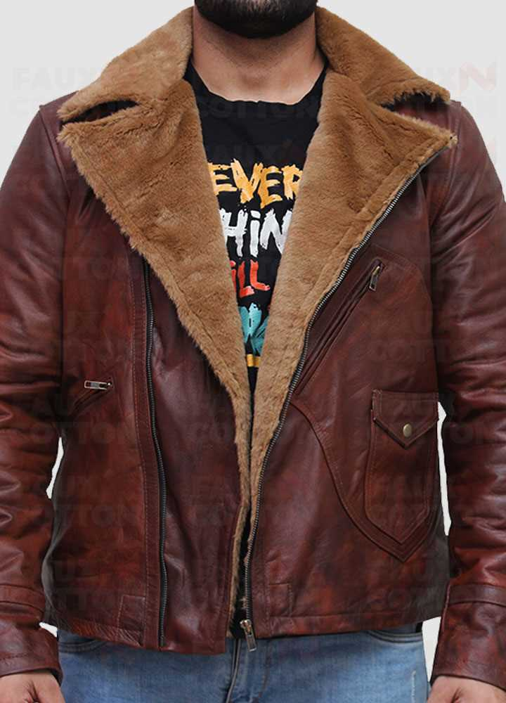 B3 Brown Lambskin Genuine Leather Jacket
