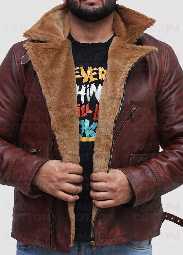 B3 Brown Lambskin Genuine Leather Jacket