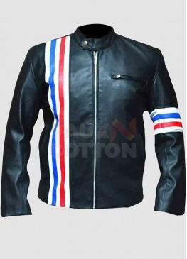 Easy Rider Peter Fonda Us Flag Leather Jacket