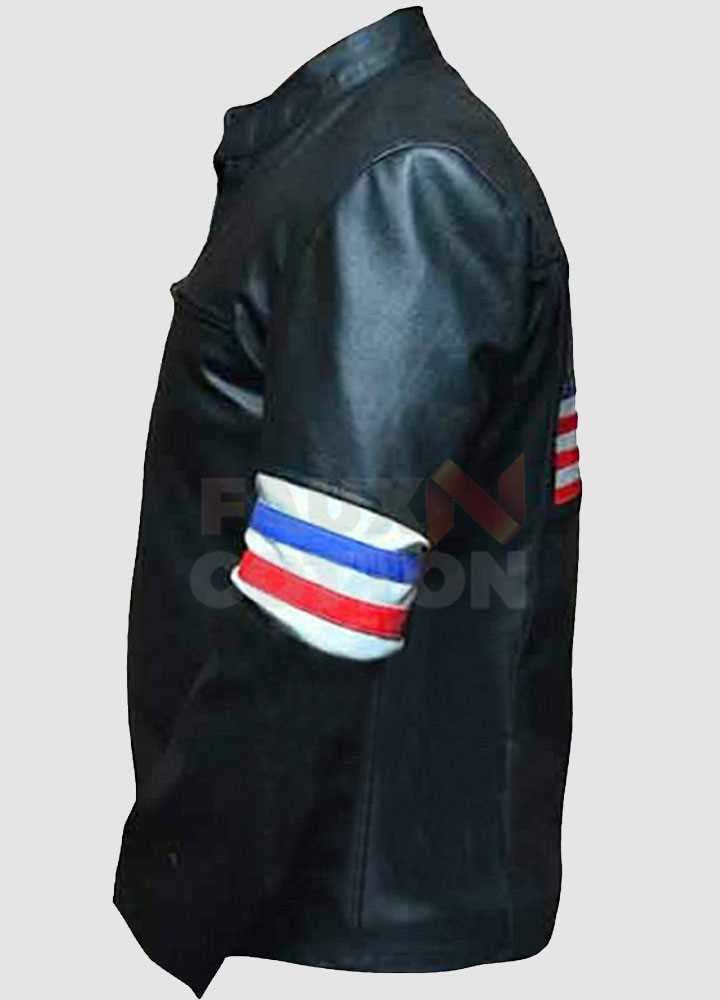 Easy Rider Peter Fonda Us Flag Leather Jacket