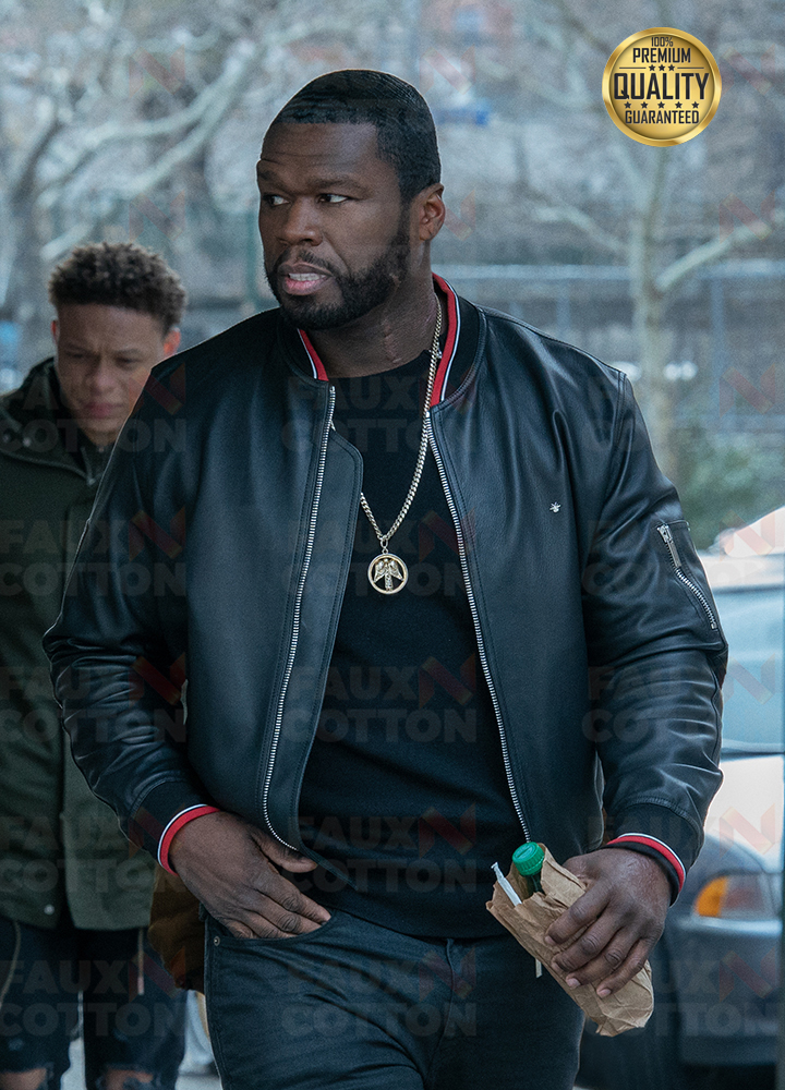 Power 50 Cent Black Leather Jacket