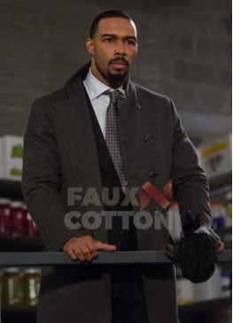 Power Omari Hardwick Wool Coat