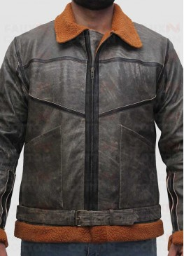 G1 Dover Shearling Distressed B3 Bomber jacket