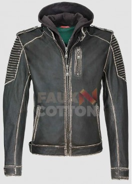 Suicide Squad Jared Leto Hoodie Leather Jacket