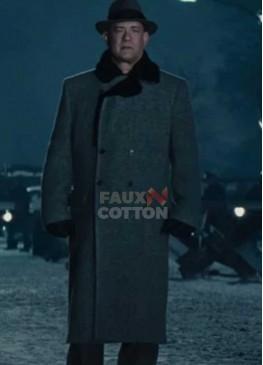 Tom Hanks Bridge of Spies James Donovan Fur Collar Coat