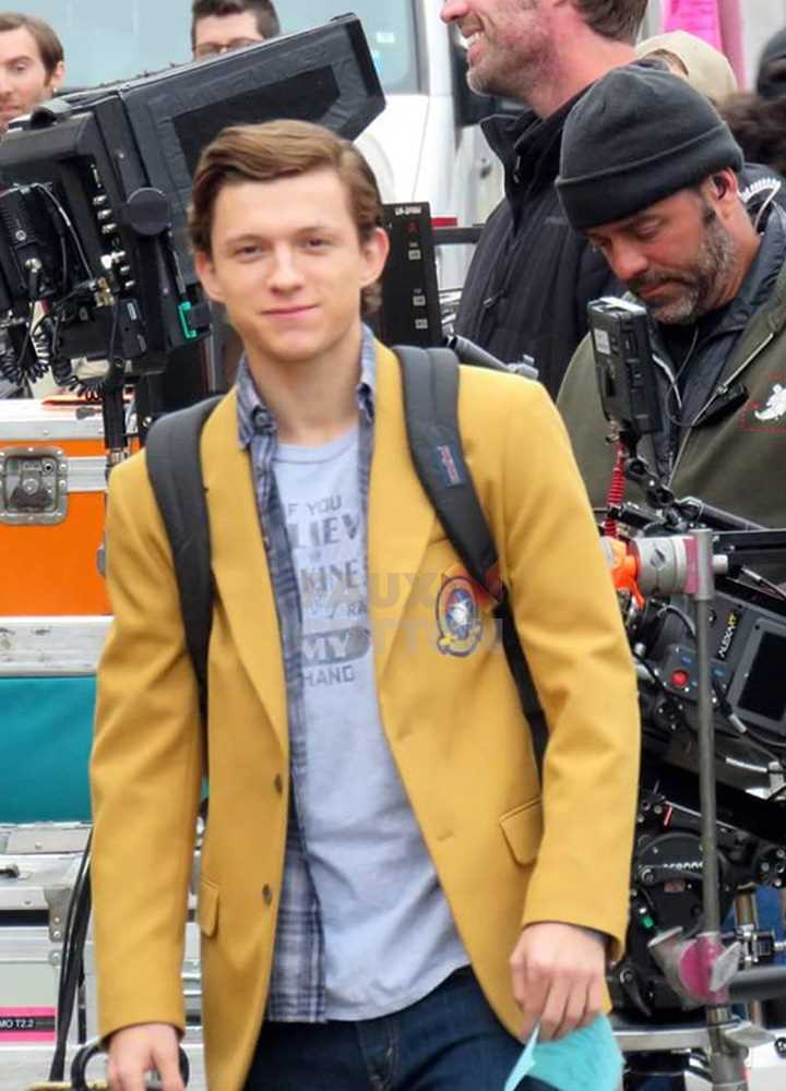 Spider-Man Homecoming Perter Parker  (Tom Holland) Yellow Coat