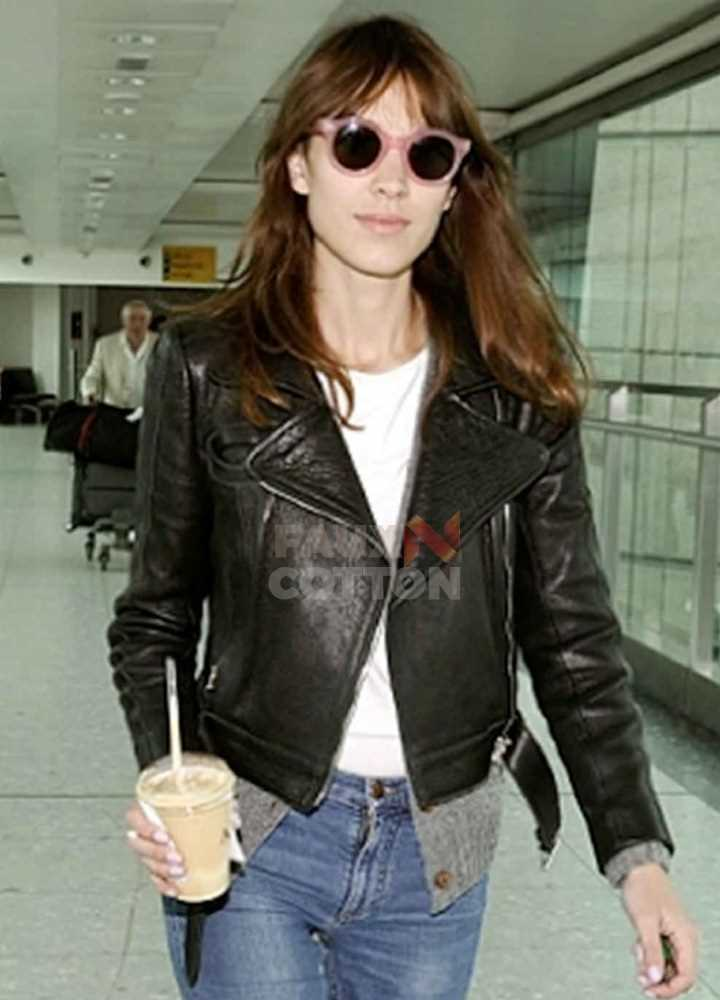 Alexa Chung Madewell Black Leather Biker Jacket
