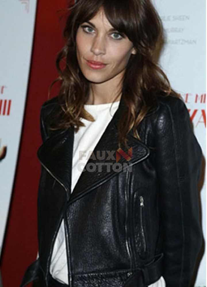 Alexa Chung Madewell Black Leather Biker Jacket