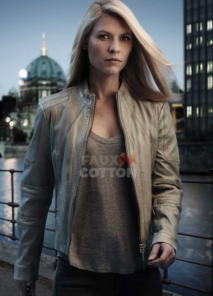 Homeland Agent Carrie Mathison (Claire Danes) Leather Jacket