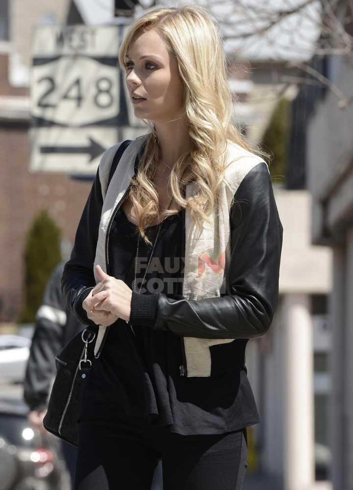 Bitten Elena Michaels  (Laura Vandervoort) Bomber Jacket