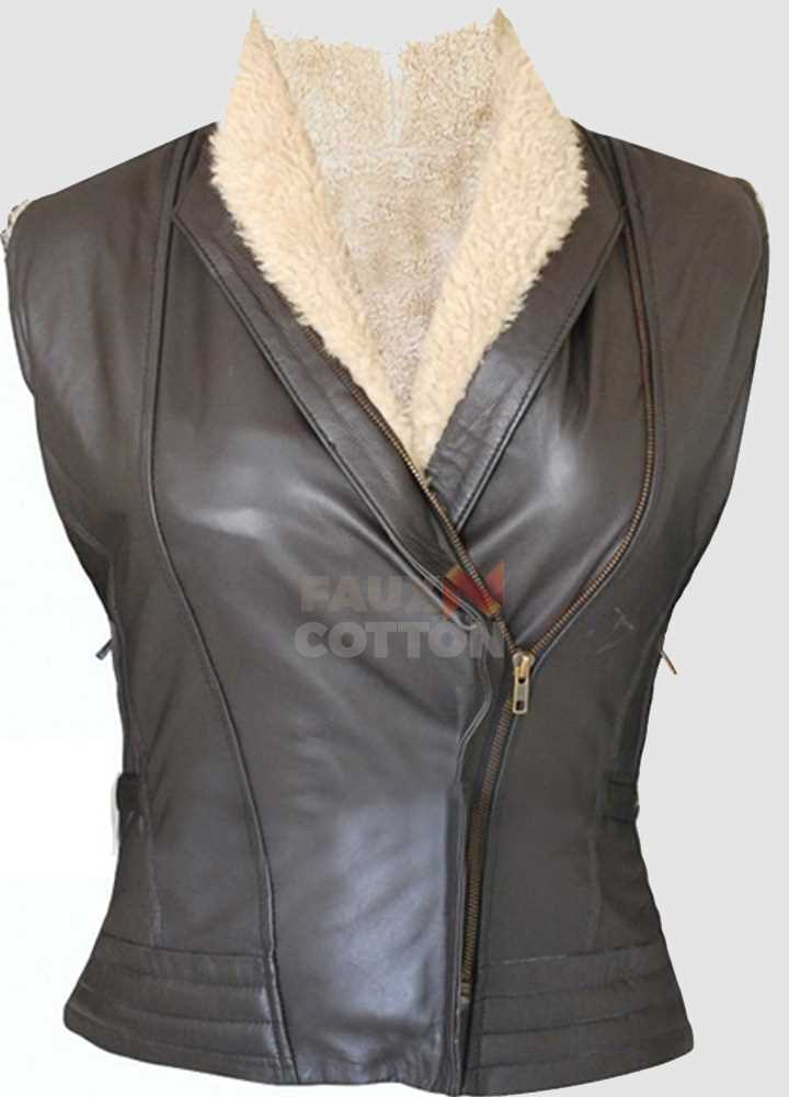 Andrea Harrison Walking Dead (Laurie Holden) Fur Vest