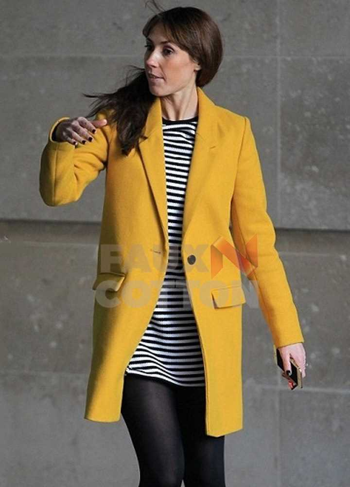 ALEX JONES TV HOST YELLOW COAT