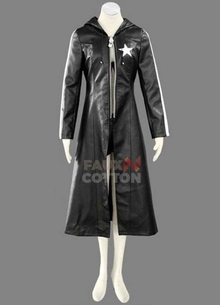 Black Rock Shooter Costume Leather Coat