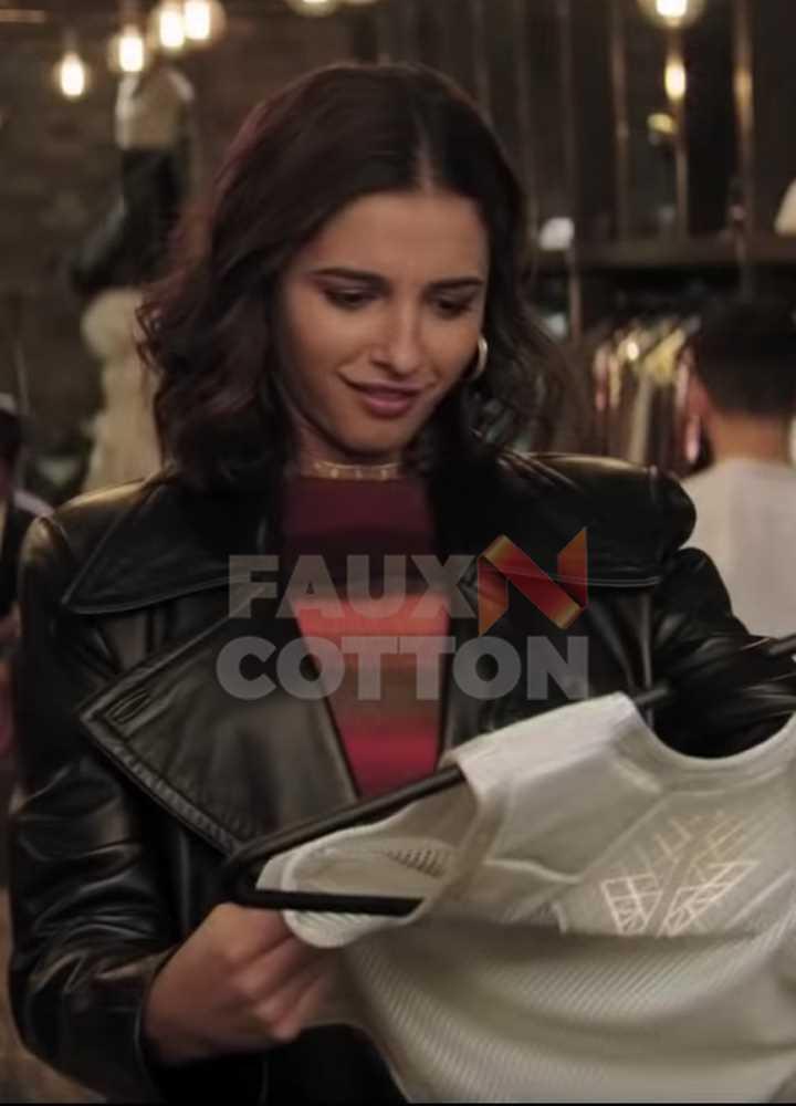Charlie's Angels Naomi Scott Leather Coat