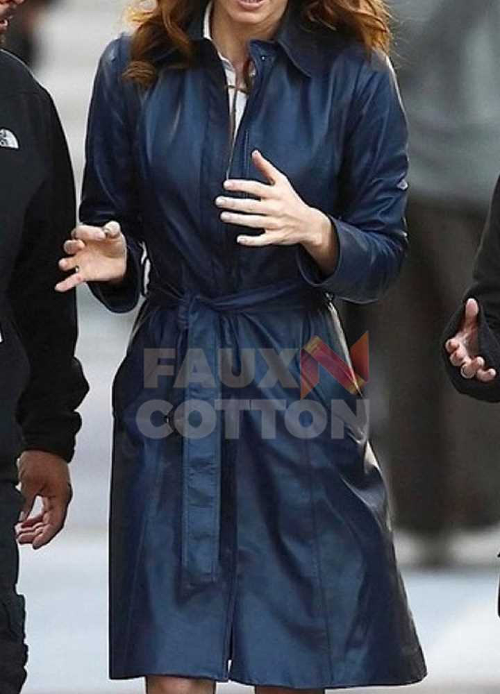 JESSICA BIEL THE A TEAM TRENCH COAT