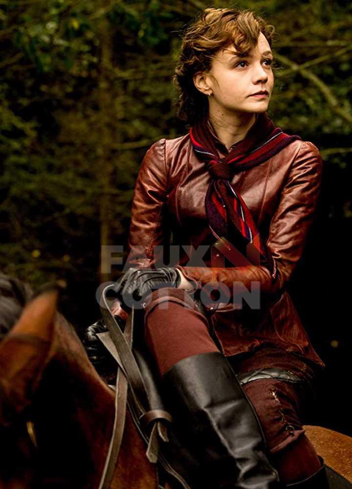 Mudbound Laura McAllan (Carey Mulligan) Brown Jacket