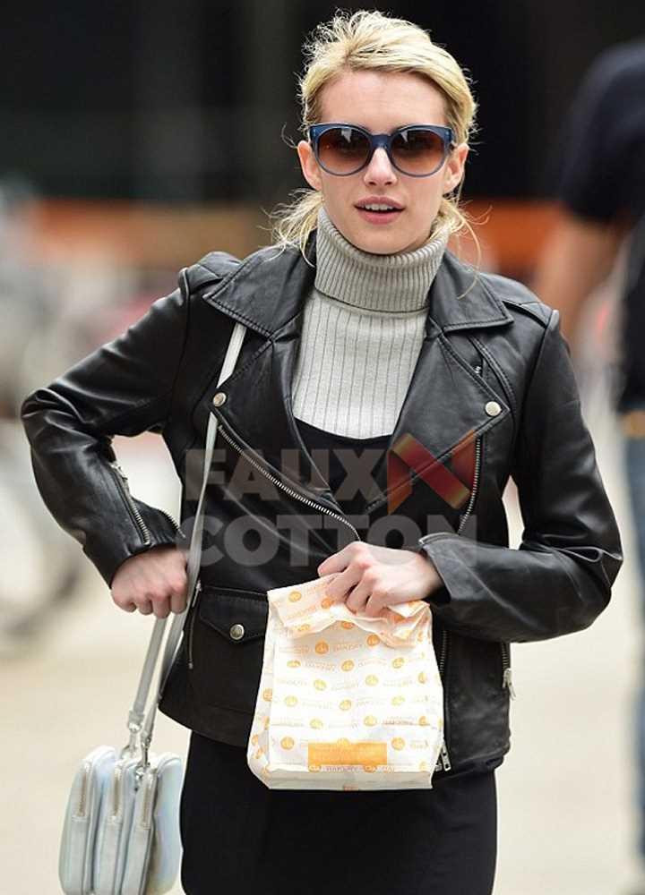 Buy Emma Roberts Leather Jacket