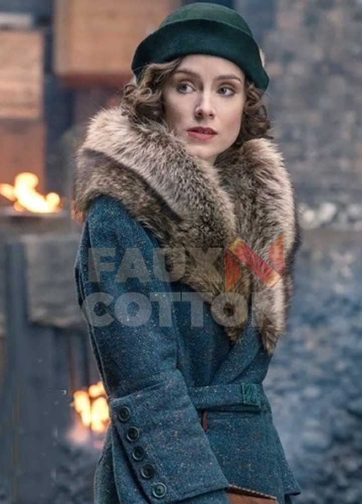 Peaky Blinders Season 5 Ada Shelby Fur Collar Coat