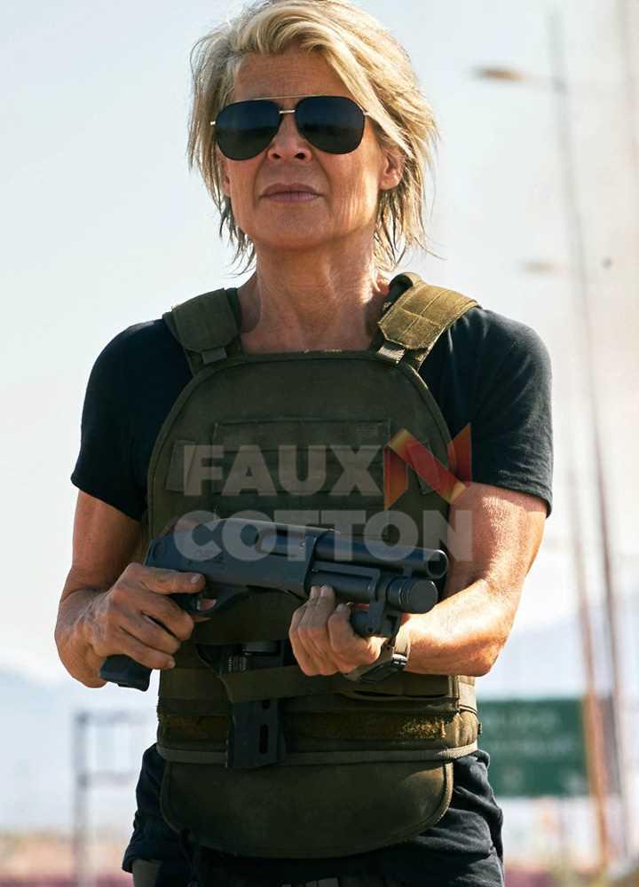 Terminator Dark Fate Linda Hamilton Bomber Vest